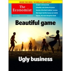 """The Economist's cover from 2014: The lead article was titled """"Beautiful game ugly business"""" TheEconomist"""