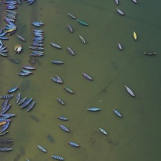 Empty boats on Lake Phew, Pokhara, Nepal on May 30th 2015. Following the devastating earthquake of 25th April, tourism in the area has plummeted. Chinese and Indian visitors are staying away however middle class Nepalese from Kathmandu have been arriving to escape the destroyed city. Credit: EPA