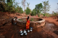suffering the consequences of a critical shortage of safe drinking water in India's villages. REUTERS