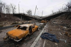 The conflict has forced hundreds of thousands of east Ukrainians to flee their homes. But for people still staying in the largely-destroyed residential areas near the airport, the sound of shelling isn't very far. REUTERS